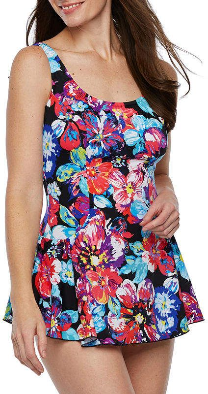 892d431886 Maxine Of Hollywood AZUL BY Azul by Floral Swim Dress in 2019 ...