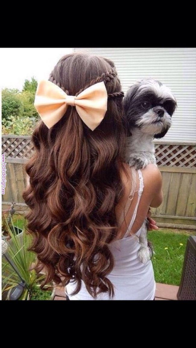 Cute Hairstyles With Bows Hair Styles Braided Hairstyles For Teens Long Hair Styles