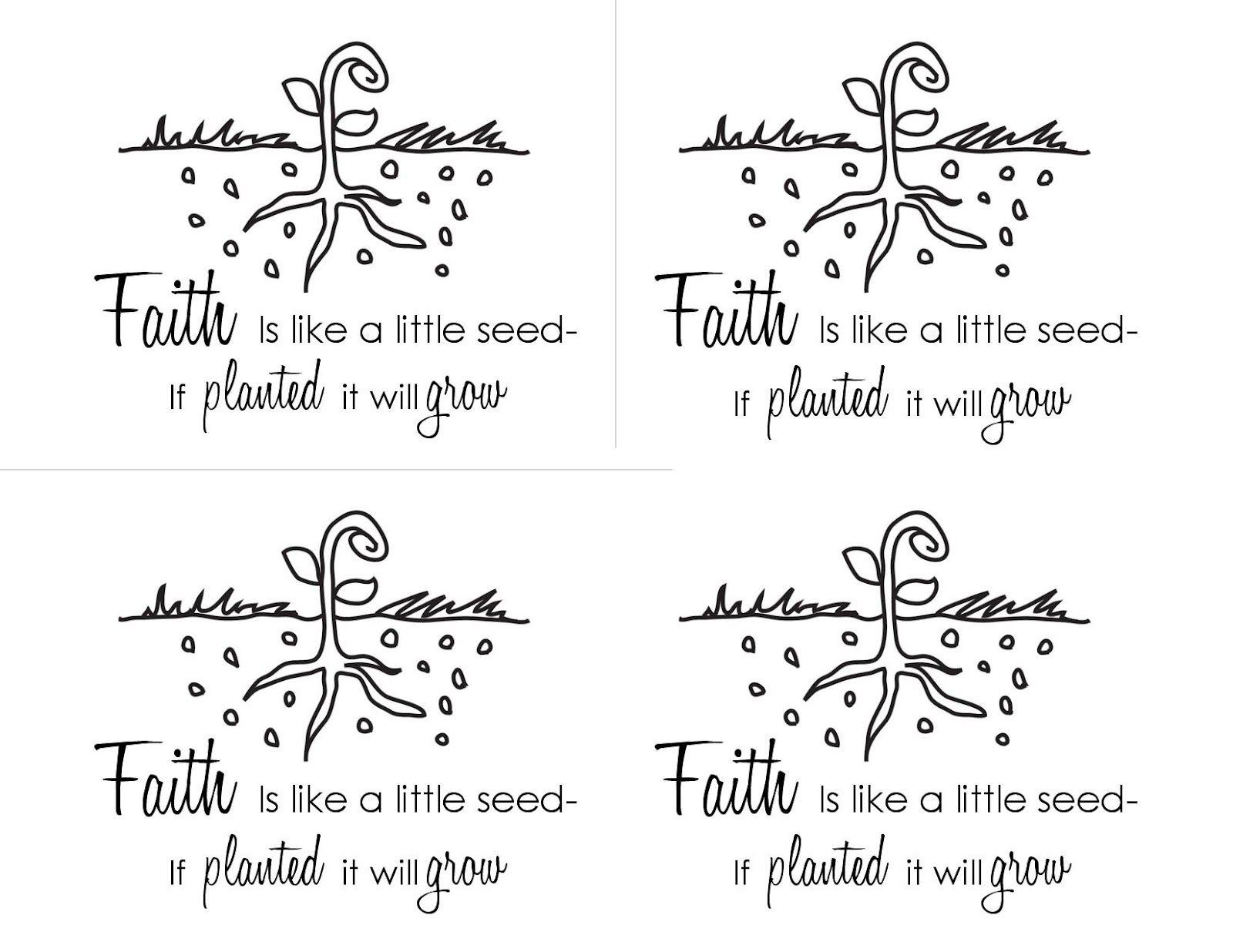 Faith Is Like A Seed Printable Handout Faith Crafts Seed