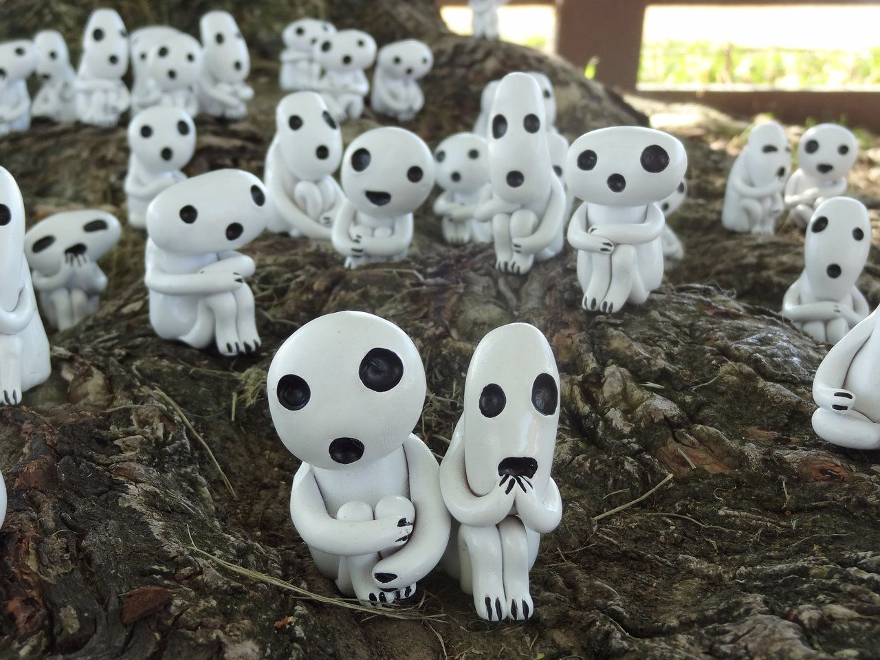 Kodama Forest by meanlilkitty.deviantart.com on @deviantART -- Definitely want some Kodama. Need to decide scale, and if I want to add LED's so they glow at night.