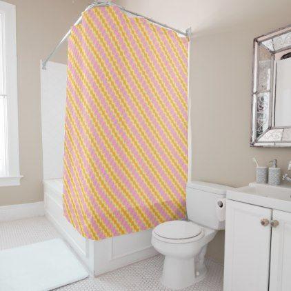Gold Lemon Pink Purple Abstract Shower Curtain Diy Cyo