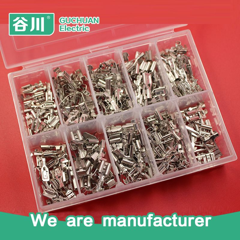 2.8 4.8 6.3 kinds of female terminal wire connector electrical crimp ...