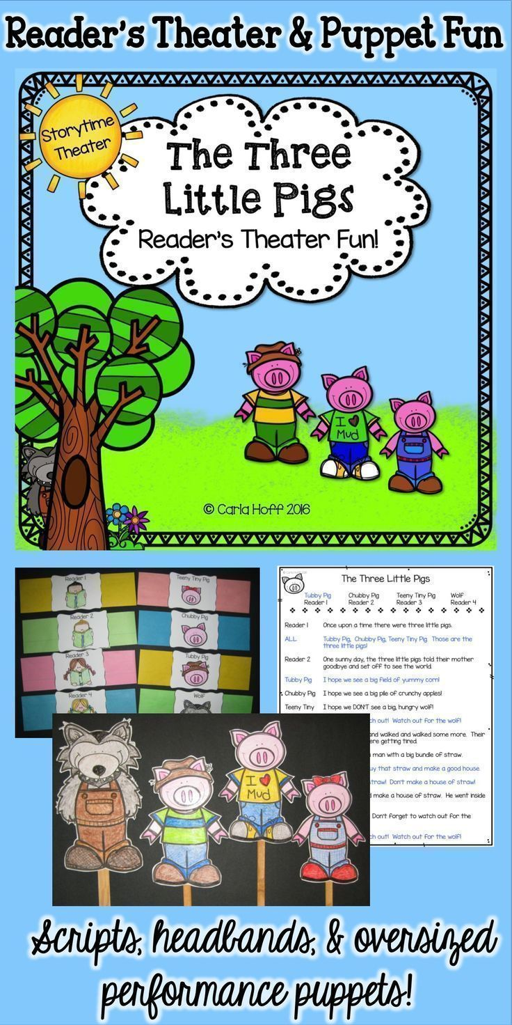 This readers theater for The Three Little Pigs has