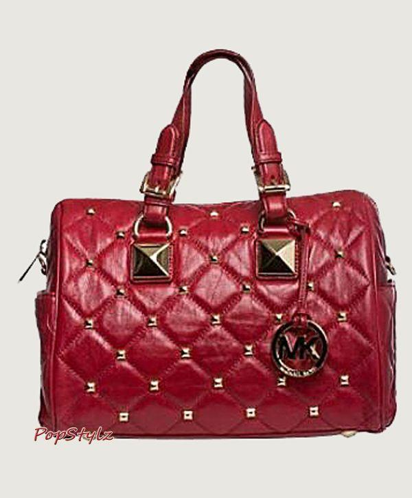 176ff4c1e ... coupon michael kors medium grayson red satchel 4d496 273d3