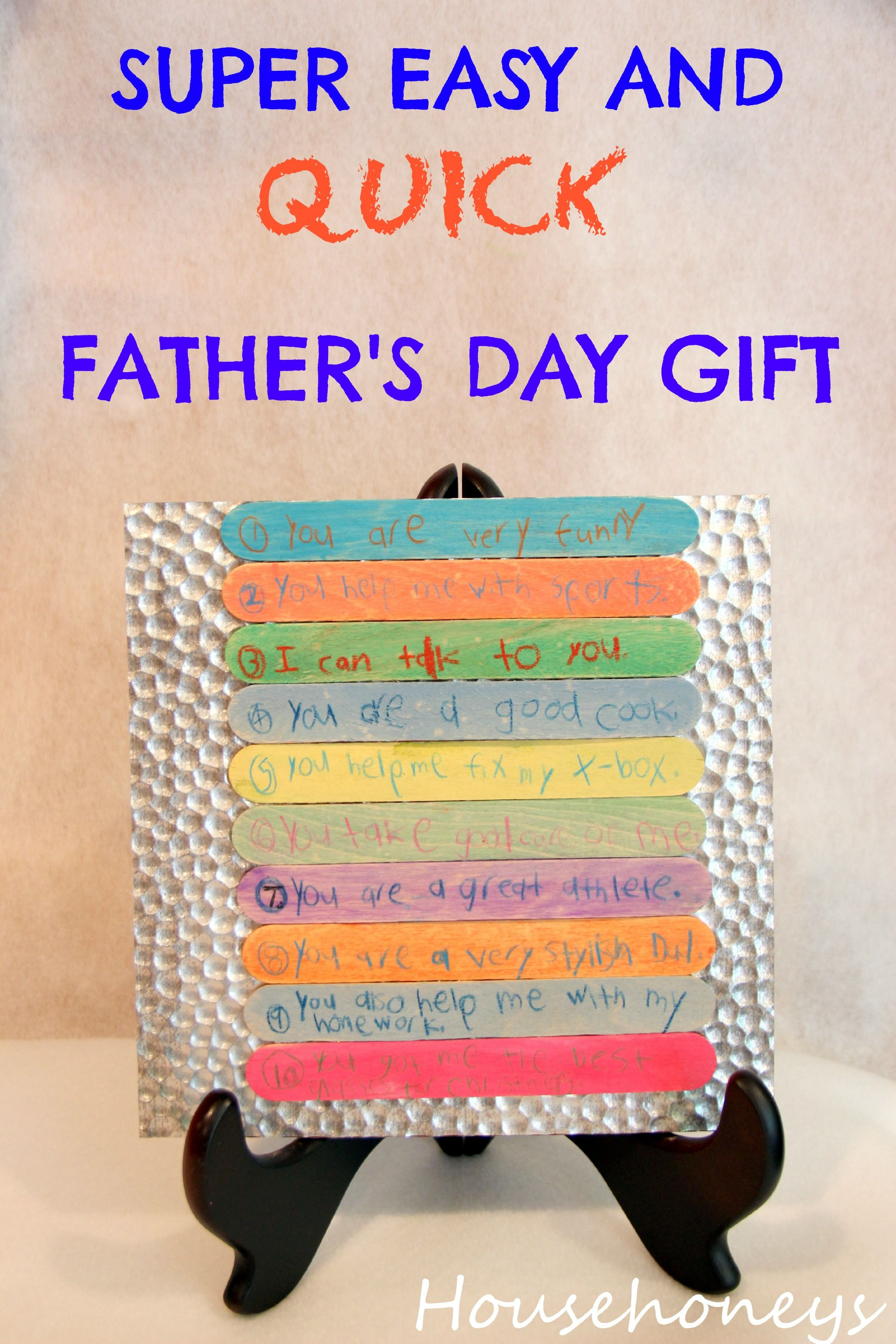 Easy And Cheap Father S Day Gift For Kids Diy Gifts