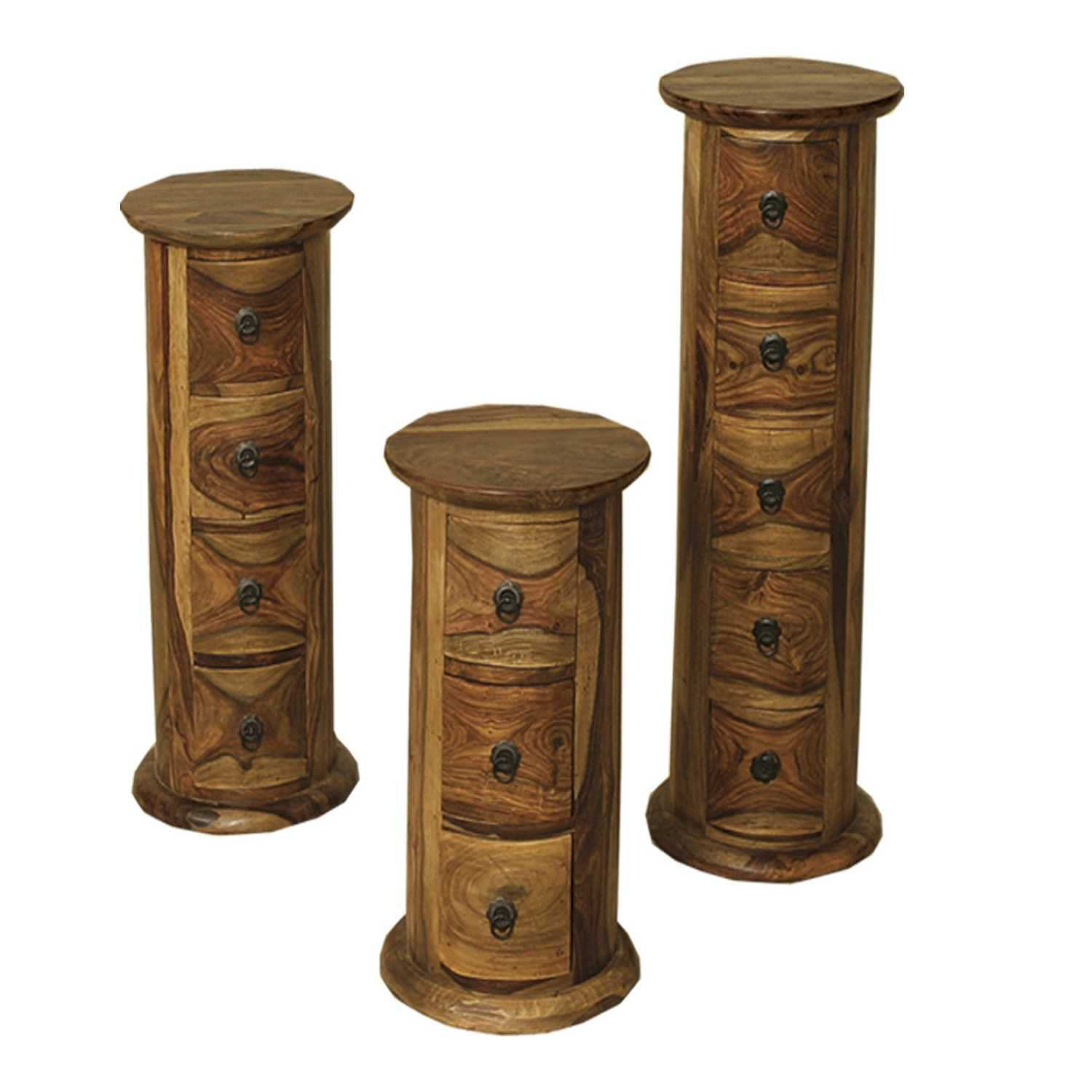 Living Room Furniture Ranges Buy Jali Indian Style Sheesham Wood 4 Drawer Round Chest Living