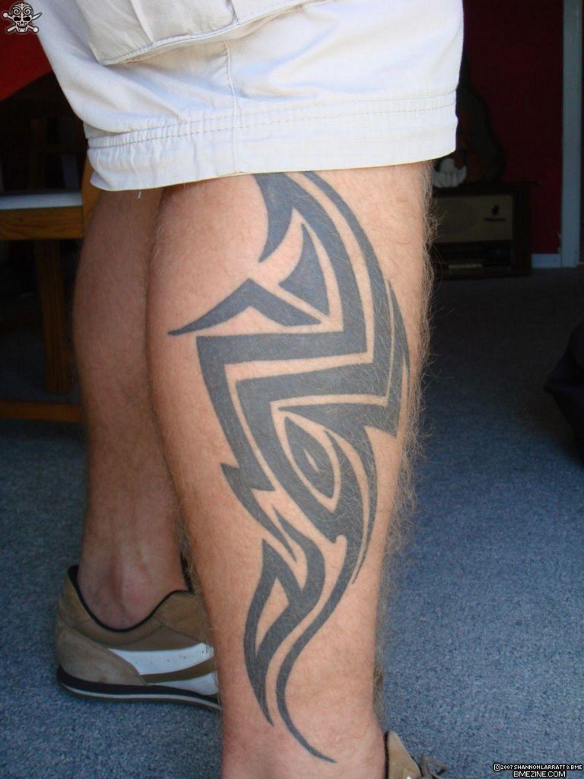 Tribal leg tattoos for menuvuqgwtrke for Thigh tribal tattoos