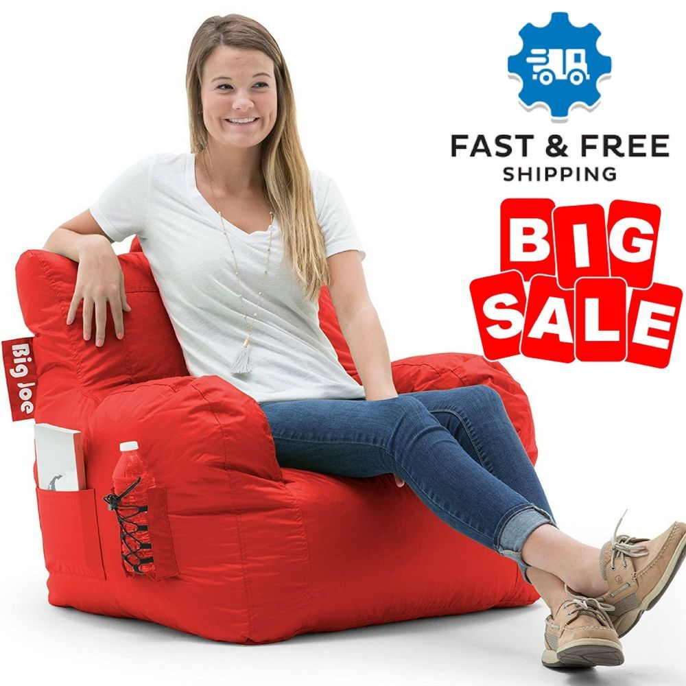 comfy chairs for dorms. Bean Bag Lounge Chair Dorm Home Living Room Waterproof Comfy Sofa With Pocket US #BigJoe Chairs For Dorms