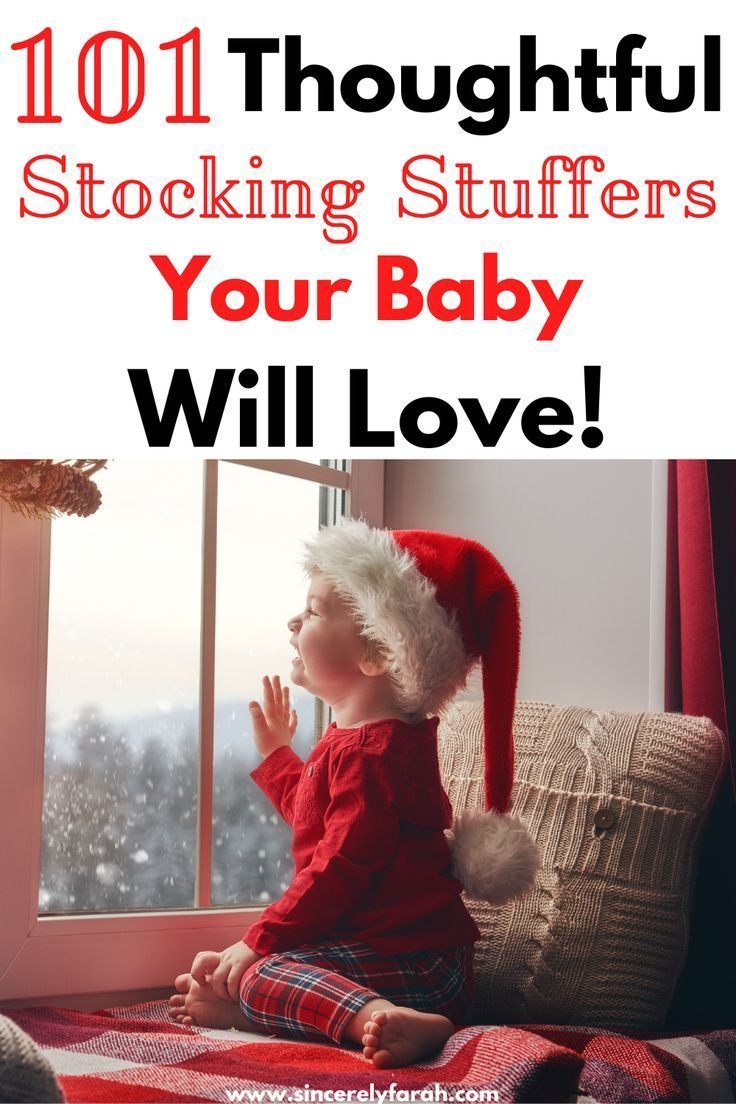 101 useful stocking stuffers for babys first christmas