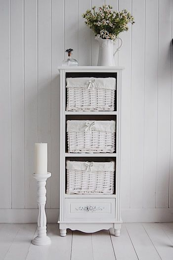Rose Tall Free Standing Bathroom Cabinet With 4 Drawers