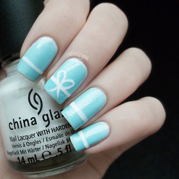 Light blue nails with a pretty white bow idea classy and subtle light blue nails with a pretty white bow idea classy and subtle prinsesfo Image collections