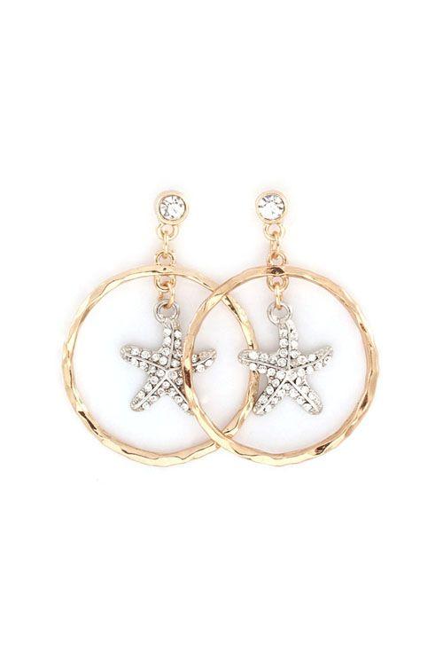 Starfish Dangle Earrings on Emma Stine Limited