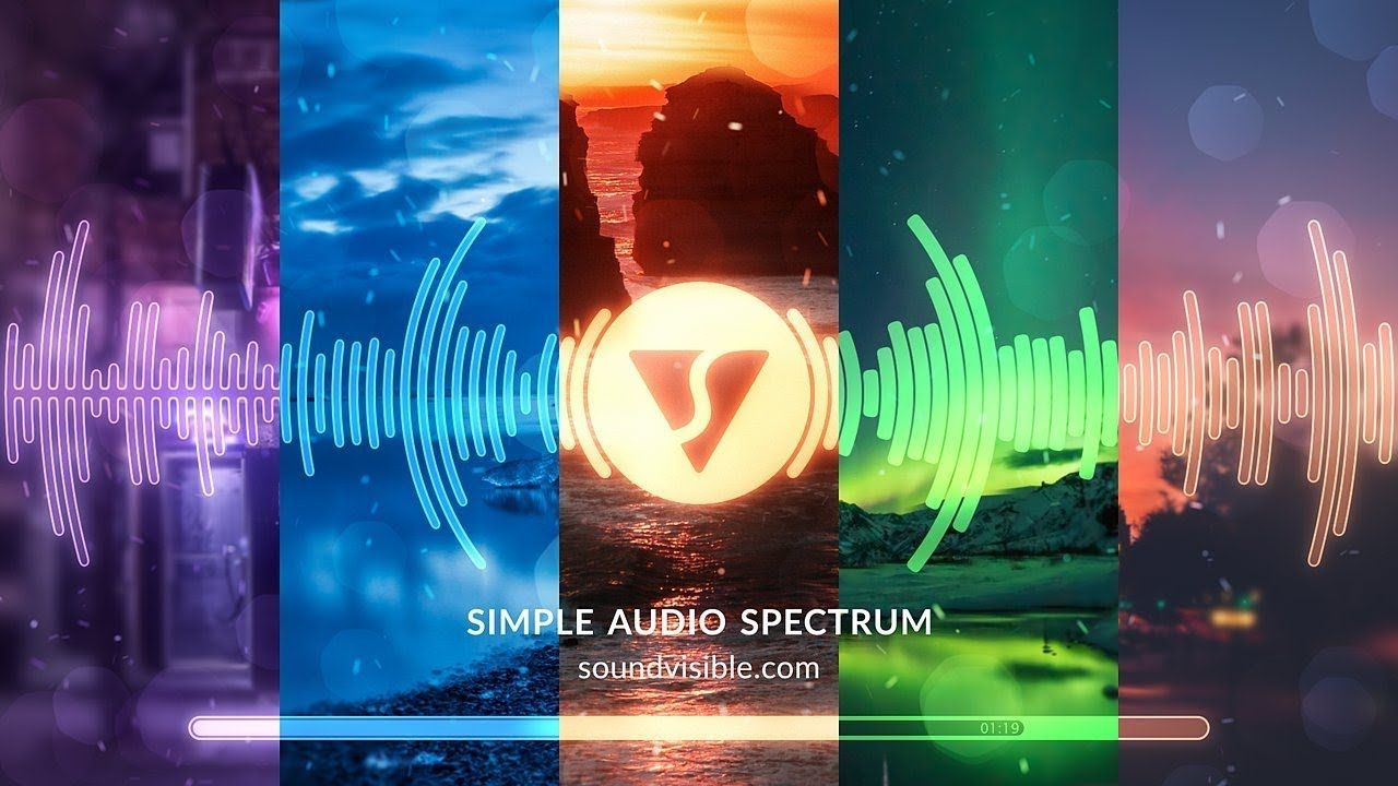 after effects template audio spectrum music visualizer free
