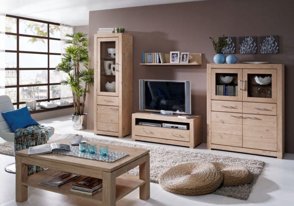DUETT 2 Wohnwand Weiß Hochglanz Sonoma Eiche House Pinterest - welche farbe für wohnzimmer