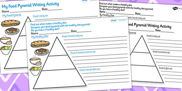 healthy eating food pyramid writing activity sese healthy eating food pyramid writing activity