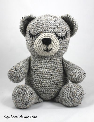 Sleepy Bear Free Crochet Pattern By Squirrel Picnic Stuffed Toy