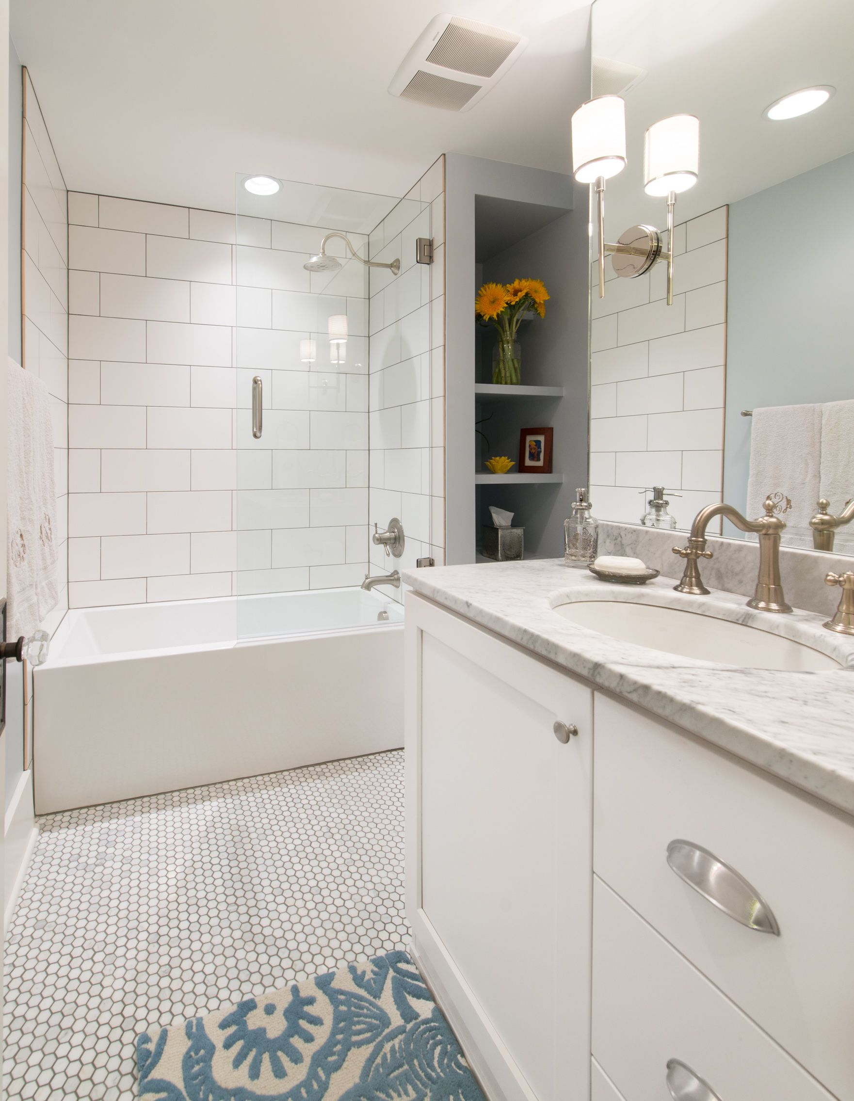 White-bathroom-remodel-with-storage-in-Old-Town-Fort-Collins ...