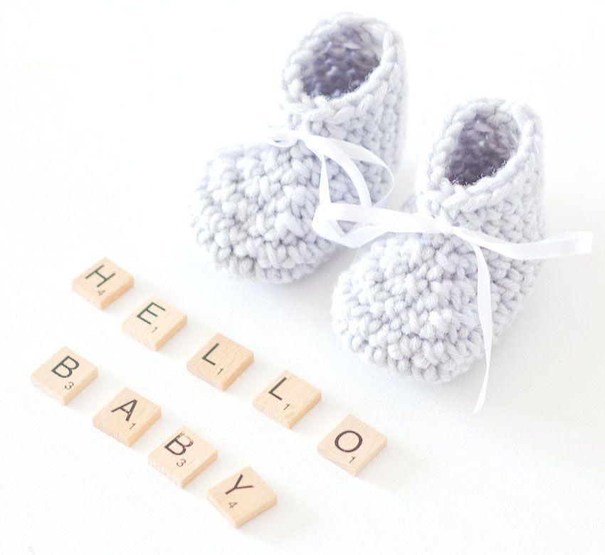 Super Schnelle Babyschuhe Mit Anleitung Wolle Pinterest