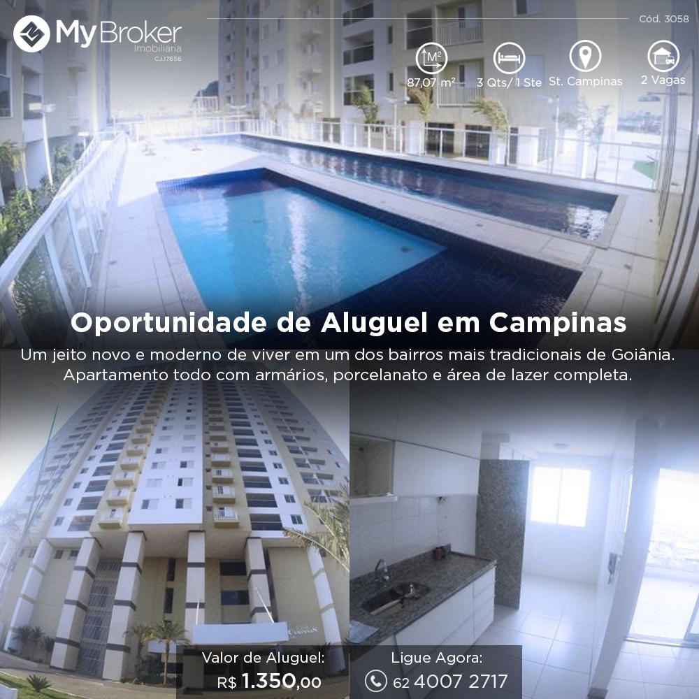 Morar em Campinas ficou muito fácil agora! Aproveite a oportunidade de morar em uma das regiões de maior força comercial da capital. #AluguelMyBroker