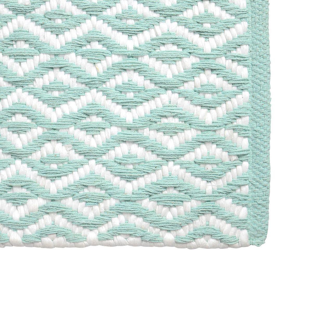 Depot Outdoor Teppich teppich mintgrün b 60 x l 90 cm 100 baumwolle teppich mintgrün b