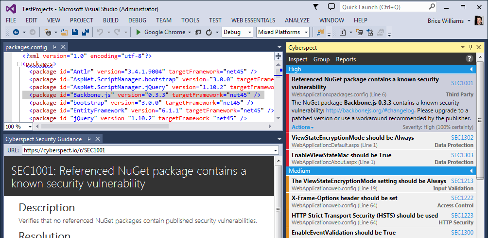 Cyberspect For Visual Studio V1 0 80 Development Microsoft Visual Studio Studio