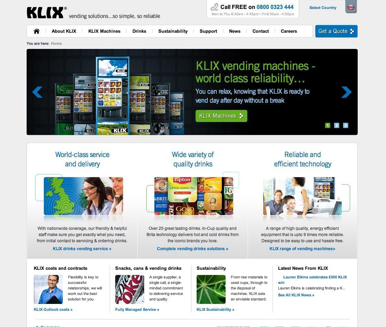 KLIX http//www.klix.co.uk/ Vending machine, Drinks