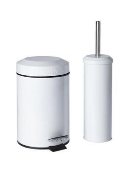 Sabichi Bathroom Bin and Brush Set | very.co.uk