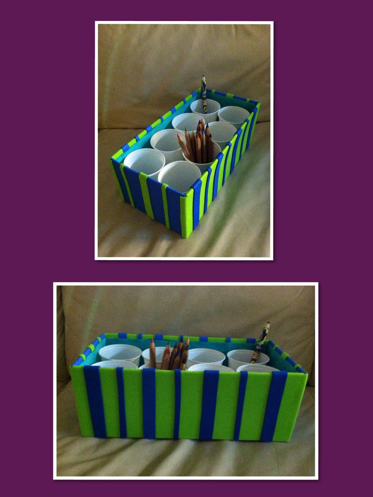 How To Decorate Shoe Boxes For Storage Diythis Is An Easy Way To Storage Your Kids Crayons Pencils