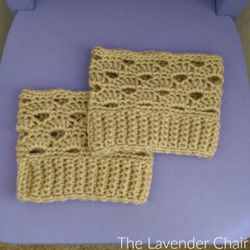 These Stacked Shells Boot Cuffs are super quick fun and easy and oh ...