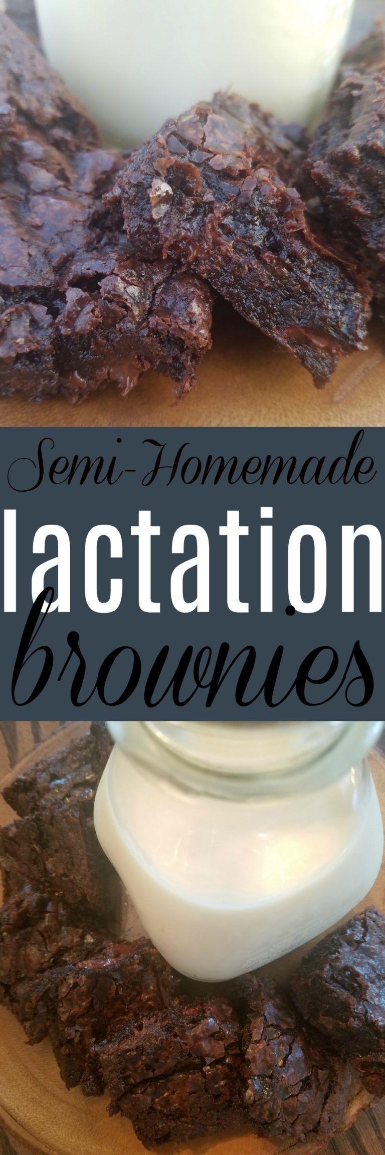 Semi-Homemade Lactation Brownies | Lactation cookies, Milk ...