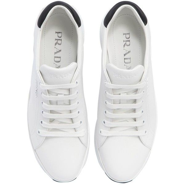 Prada Women 55mm Leather Platform Sneakers (2 b6a5fe524