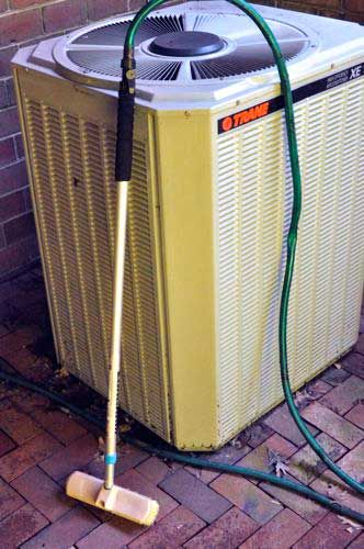 How To Clean An Outdoor Air Conditioning Coil Trane Unit Example The Unit Cleaning Ac Units