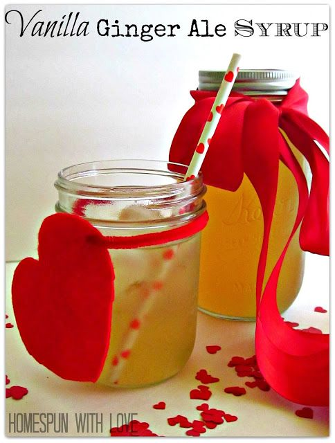 Vanilla Ginger Ale Syrup for drinking