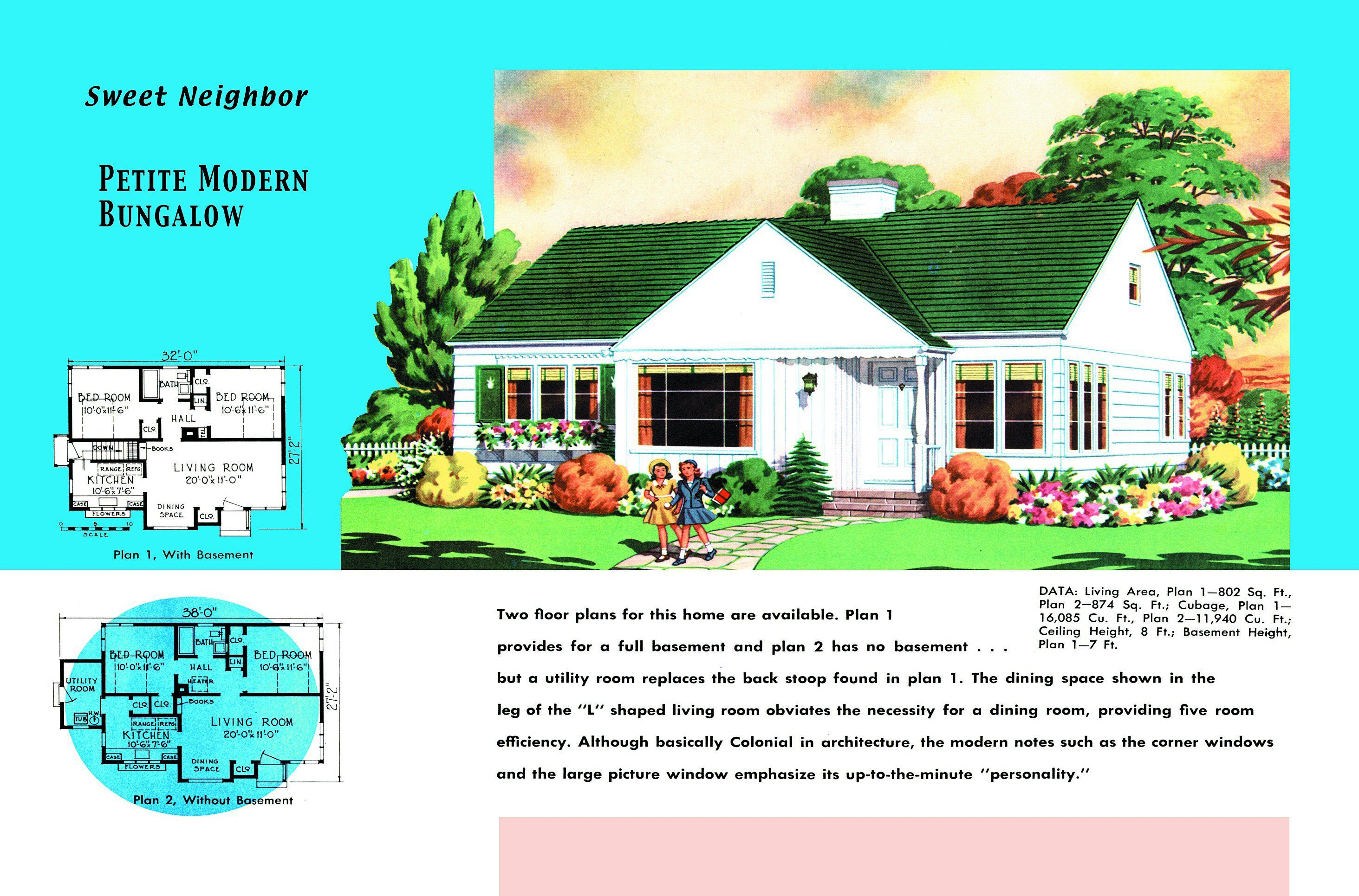 Explore The History Of Minimal Traditional Style And See Floor Plans House Plans Traditional House Plans Bungalow House Plans