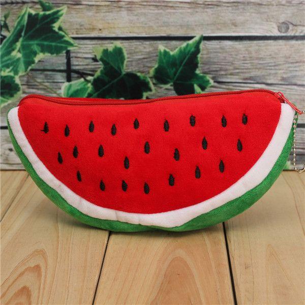Big Volume Watermelon Kids Pen Pencil Bag Case Gift Pendant Cosmetics Purse Wallet Holder Pouch