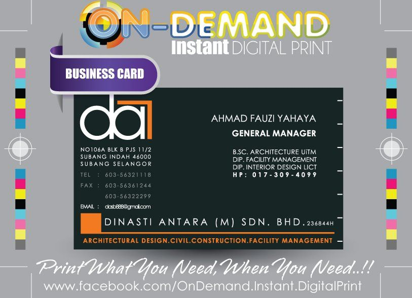 Client : DINASTI ANTARA (M) SDN BHD Material : Ivory Card Description : Digital Print (Front ) Quantity : 2 Boxes