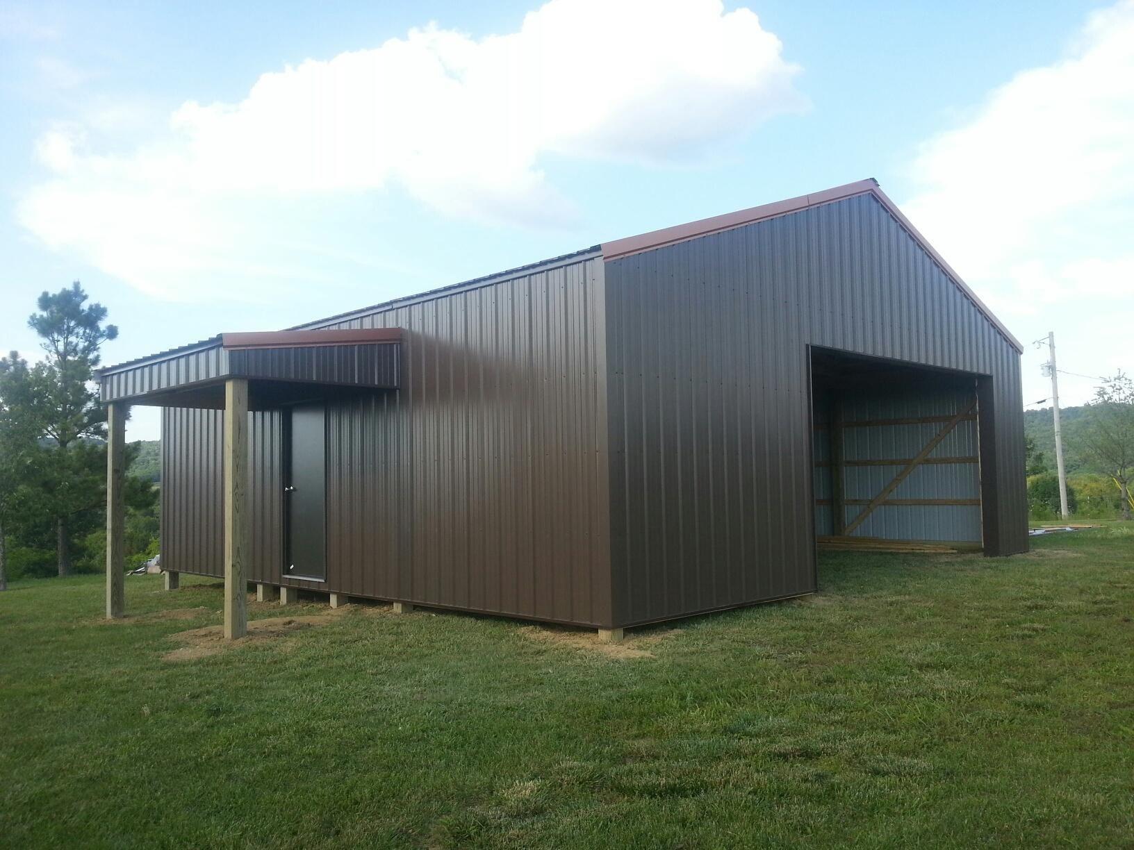 30x30x10 with 6x10 shed garage