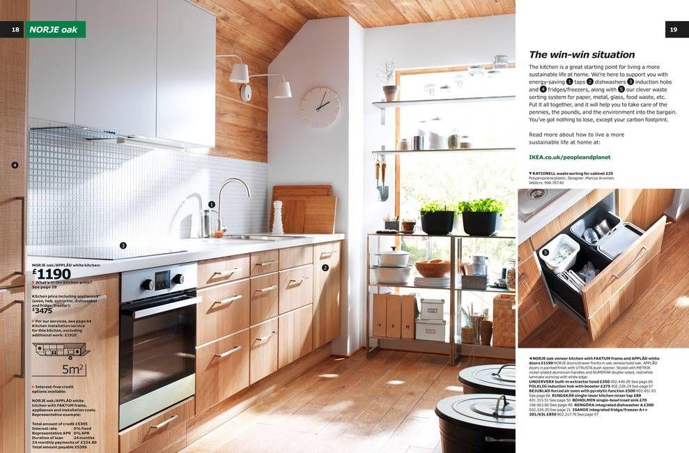 IKEA NORJE in oak Cocinas y baños, Cocina ikea, Muebles