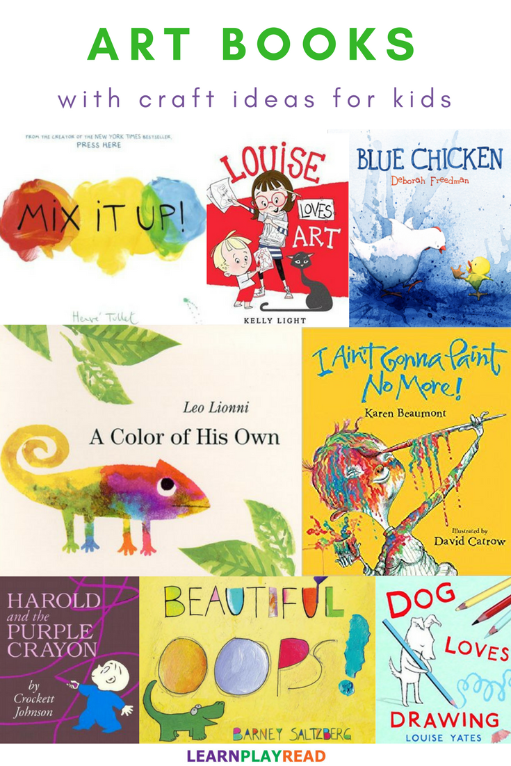 These Eight Art Books With Craft Ideas For Kids Are Sure To Keep Your Toddlers And Preschoolers Busy Having Fun Art Books For Kids Book Art Projects Book Art