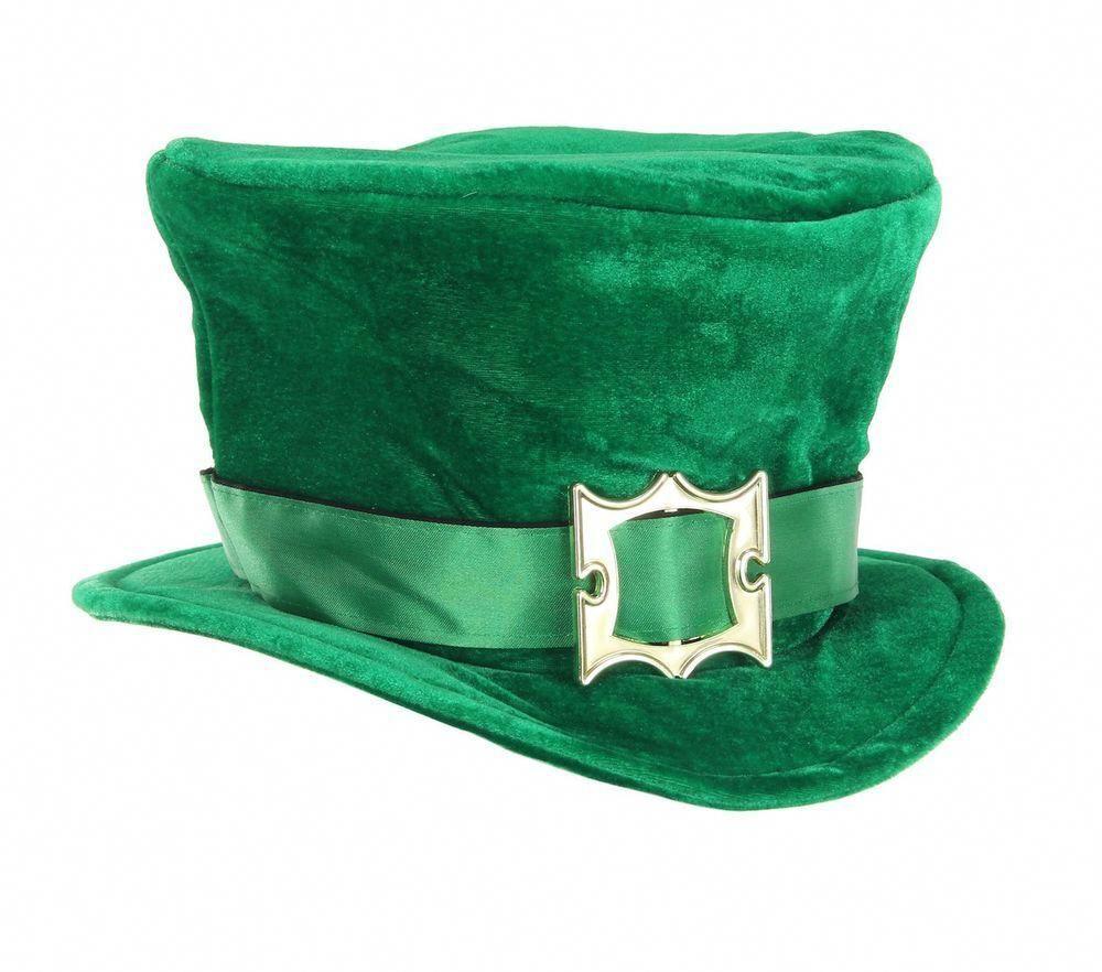 2 NEW Green Felt Cowboy Hat with Gold Buckle St.Patricks Day Spritz Leprechaun