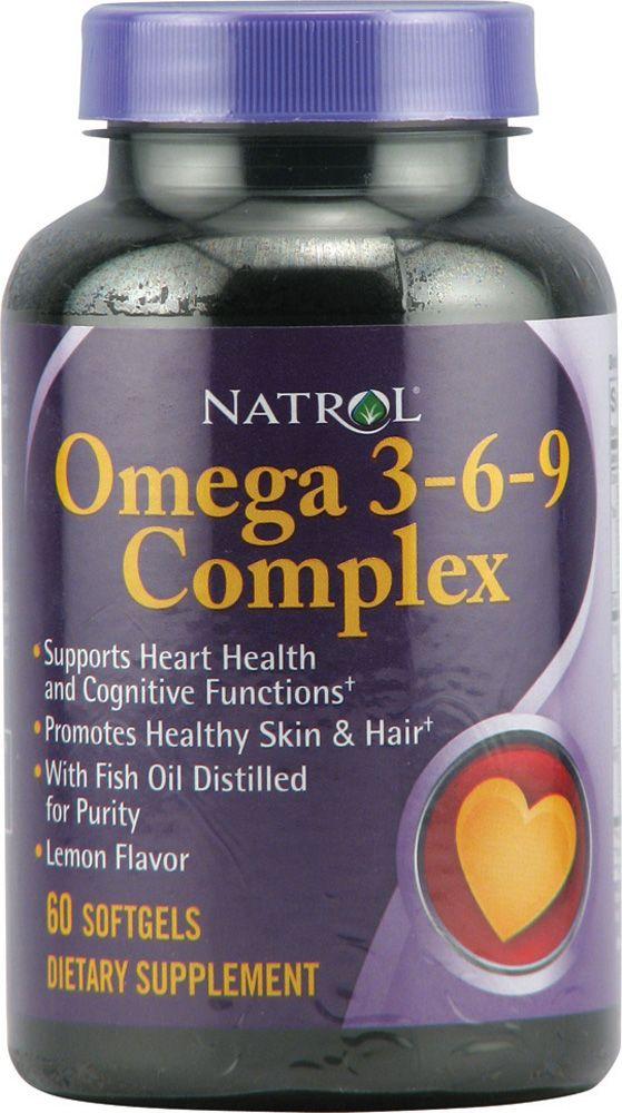 Natrol Omega 3 6 9 Complex Lemon 1200 Mg 60 Softgels Fish