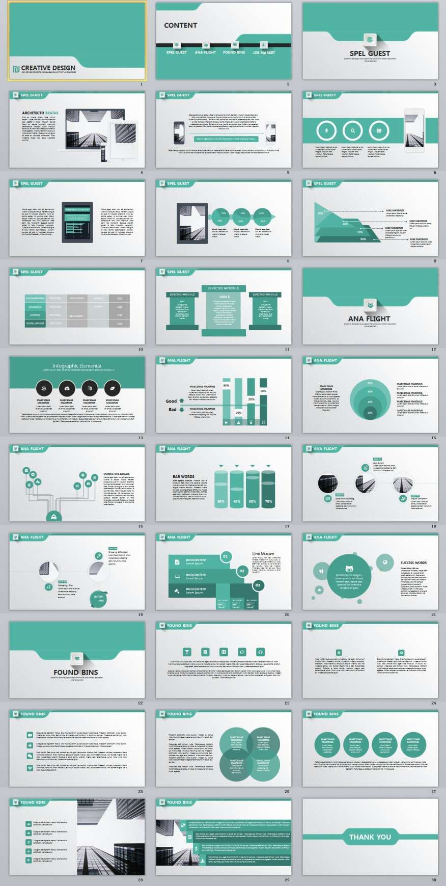 30+ Creative Design PowerPoint Template download