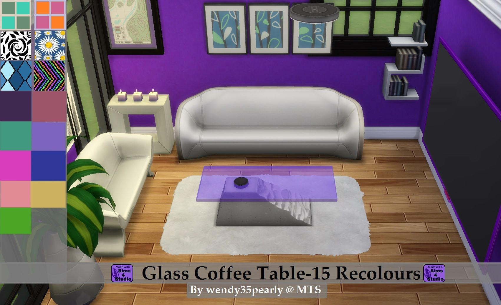 Mod The Sims Glass Coffee Table Set 9 Colours 6 Patterns Coffee Table Setting Glass Coffee Table Coffee Table [ 1037 x 1701 Pixel ]
