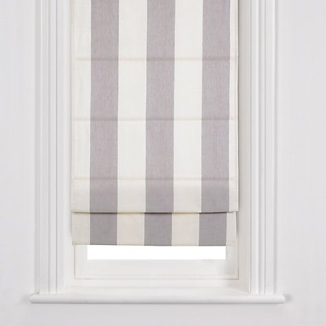 Buy John Lewis Stripe Roman Blinds, Grey / Oyster Online ...