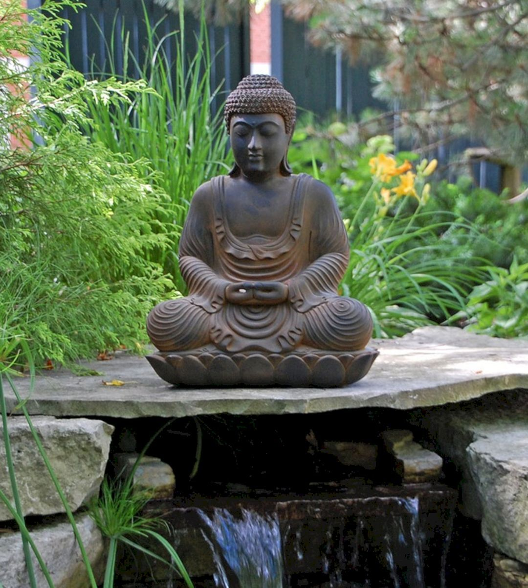 35 Awesome Buddha Garden Design Ideas For Calm Living Freshouz Com Buddha Garden Garden Statues Buddha