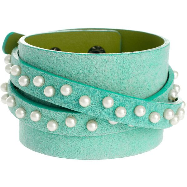 ASOS Collection Limited Edition Pearl Wrap Bracelet ($25) ❤ liked on Polyvore featuring jewelry, bracelets, accessories, pulseiras, green, pearl bangle, green pearl jewelry, green jewelry, imitation pearl jewelry and pearl jewelry