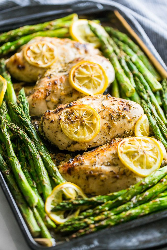 Lemon Chicken And Asparagus Sheet Pan Dinner Get Inspired Everyday Sheet Pan Dinners Recipes Asparagus Recipes Healthy Asparagus Recipe