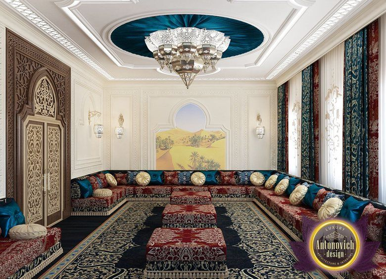 View Full Picture Gallery Of Arabic Style In The Interior Of Luxury Antonovich Design Arabic Interior Design Arabic Interior Modern Bedroom Interior Arabic living room decorating ideas