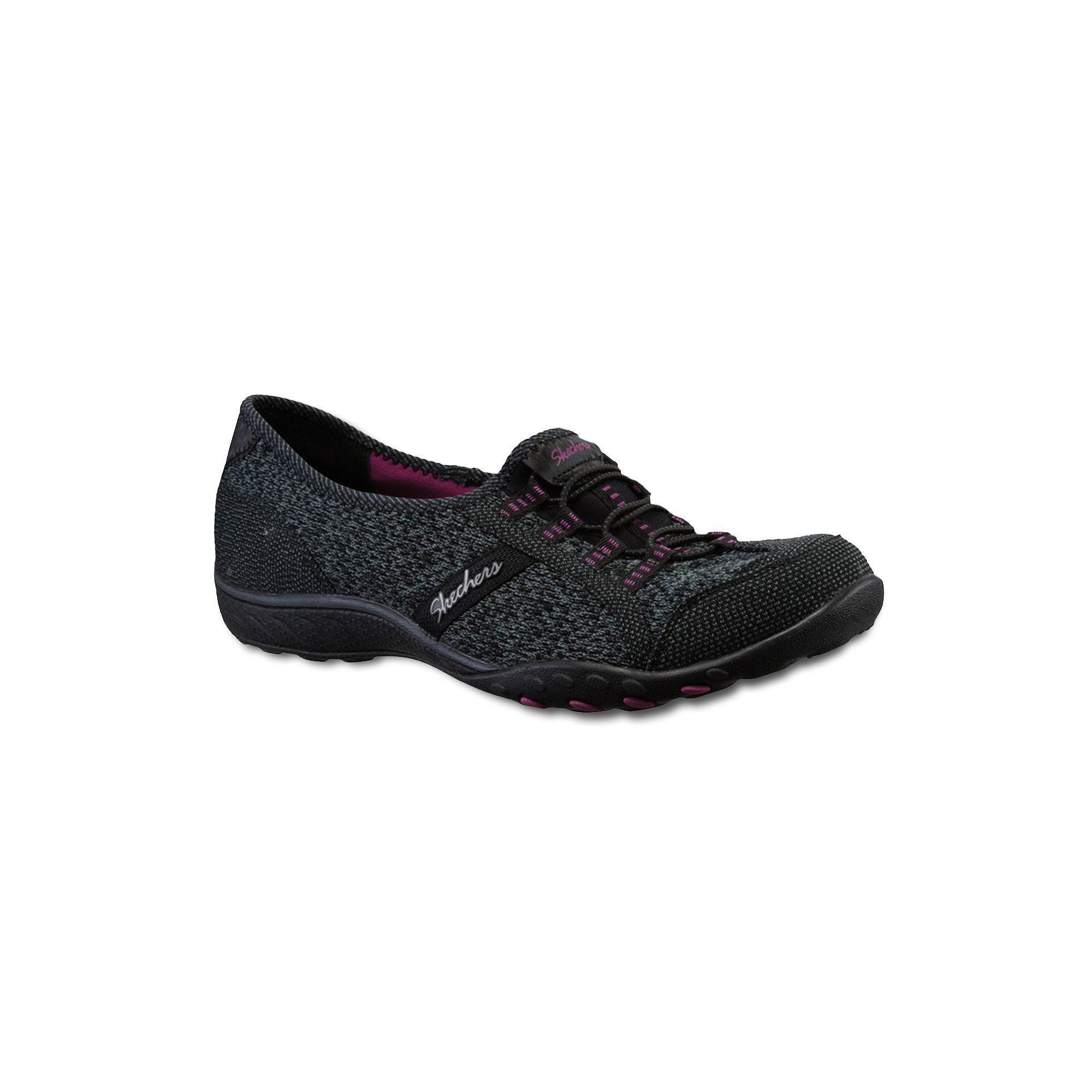 Skechers Black Slip On Athletic Shoes Womens Sz 6