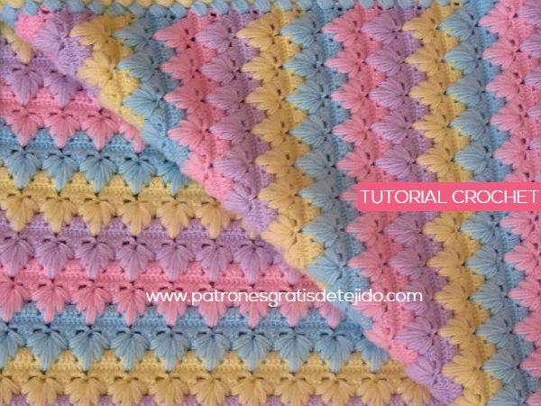 Puntada Crochet para Cobija de Bebé / Tutorial en español | Crochet ...